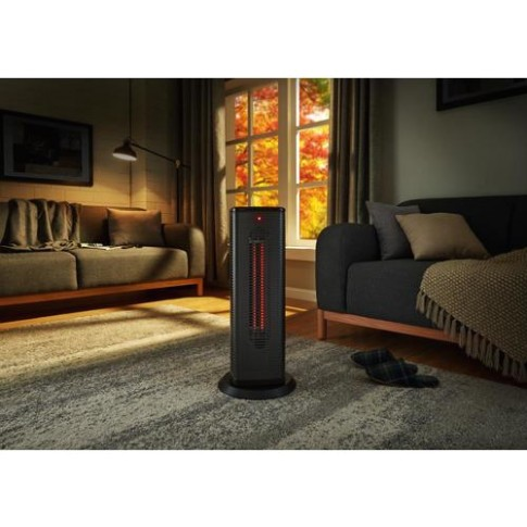 Scott Living 20-Watt Infrared Quartz Tower Electric Space Heater at  Lowes | living room heater