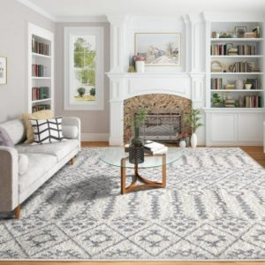 Shop Indoor Stain-resistant Modern Living Room Bedroom Traditional ... | living room 8x10 rug