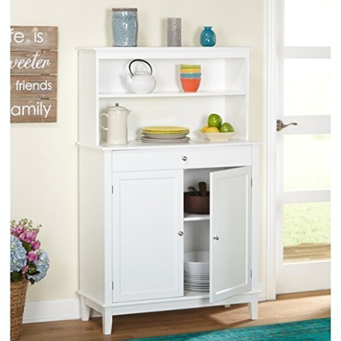 Simple Living Farmhouse Buffet with Hutch - living room hutch | living room hutch