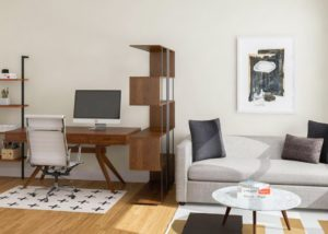 Simple Office-Meets-Guest Room Decorating Ideas – Modsy Blog   living room office ideas