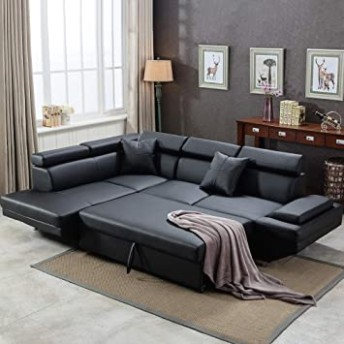 Sofa Sectional Sofa for Living Room Futon Sofa Bed Couches and Sofas  Sleeper Sofa Modern Sofa Corner Sofa Faux Leather Queen 13 Piece Modern .. | living room 2 sofas