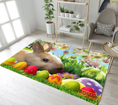 Spring Easter Bunny Eggs Living Room Yoga Mat Bedroom Carpet Floor Area  Rugs | eBay - living room yoga | living room yoga