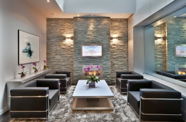 Stone Wall In Your Living Room- 14 Brilliant Ideas - living room wall design | living room wall design