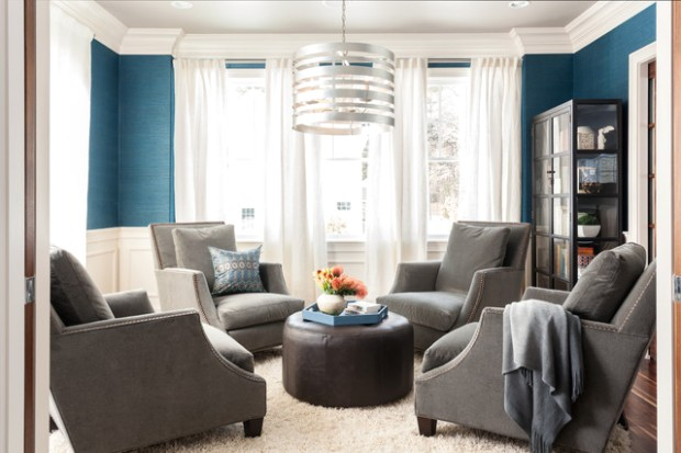 Sweetwater Residence - Transitional - Living Room - Boston - by .. | living room 4 chairs
