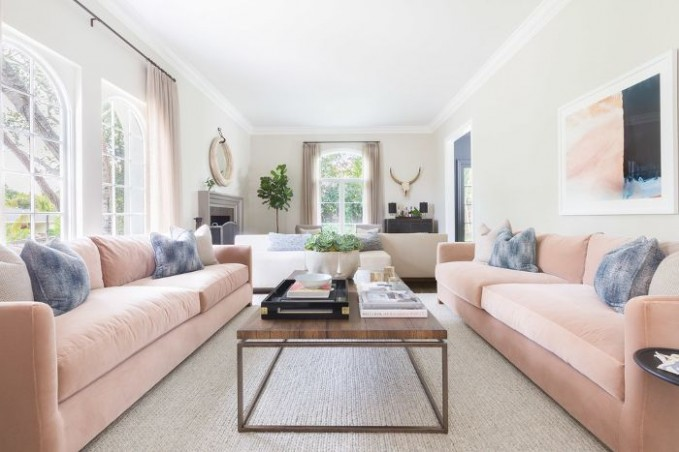The Living Room and Sofa Layout That Works Every Time - living room 2 sofas | living room 2 sofas