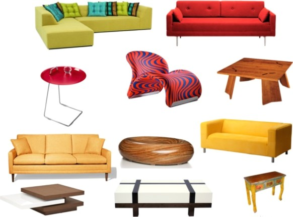 Things Found In The Living Room Clipart - living room things   living room things