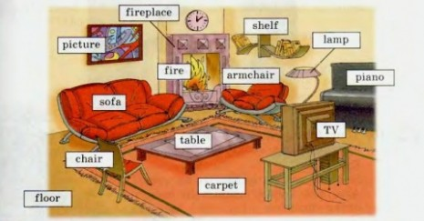 Things In The Dining Room Clipart - living room things   living room things
