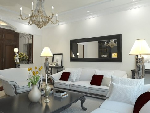 Tips for Displaying Large Mirrors in a Living Room - living room mirrors | living room mirrors