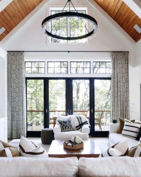 Top 14 Best Vaulted Ceiling Ideas - High Vertical Space Designs - living room vaulted ceiling | living room vaulted ceiling