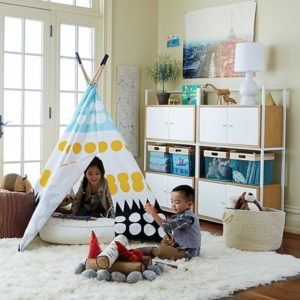 Top 15 Easy Toy Storage Ideas | Crate and Barrel | living room toy storage