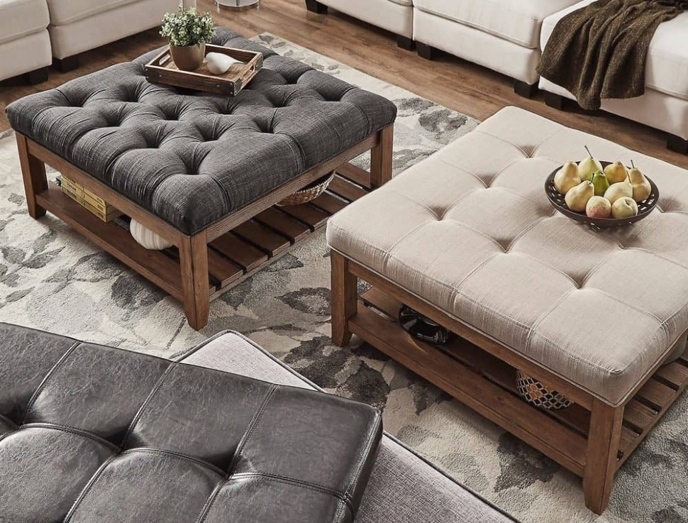 Top 15 Large Ottomans for Your Living Room - living room ottoman | living room ottoman