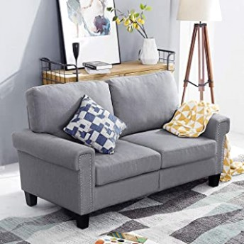 Top Space 13-Seat Living Room Furniture Two-Piece Sofa Home Arm Chair Single  Sofa Modern Fabric Accent Chair Set (Light Grey) - living room 2 sofas | living room 2 sofas