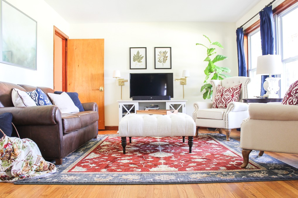 Traditional Casual Living Room Updates - living room updates | living room updates