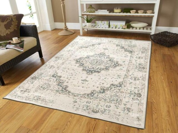 Traditional Distressed Area Rug 19x19 Large Rugs for Living Room 19x19 Gray  Ivory - living room 5x8 rug | living room 5x8 rug