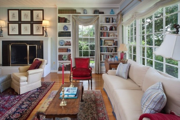 Traditional Florida Lake House - Traditional - Living Room .. | living room