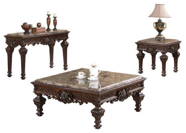 Traditional Living Room Table Set, 14-Piece Set | living room 3 piece table set