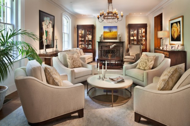 Traditional Living Room - Traditional - Living Room - DC Metro - living room 4 chairs | living room 4 chairs