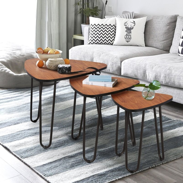 Union Rustic Nesting Coffee Tables, Set Of 13 End Side Tables Modern  Furniture Decor Table Sets, Sturdy And Easy Assembly, Accent Furniture In  Home .. | living room table sets