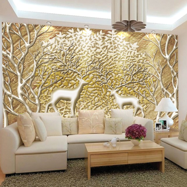 US $14.14 14% OFF|Customized Large Abstract Photo Mural 14D Wallpaper Living  Room TV Background Wall Europe Embossed Wall Murals|Wallpapers|Home .. | living room 3d wallpaper