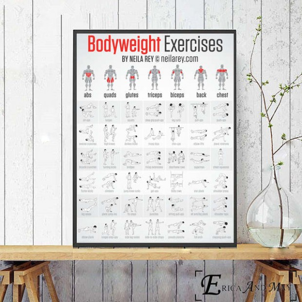 US $19.19 1919% OFF|Bodybuilding Exercises Gym Posters And Prints Wall Pictures  For Living Room Canvas Painting Chart Decorative Home Decor .. | living room exercises