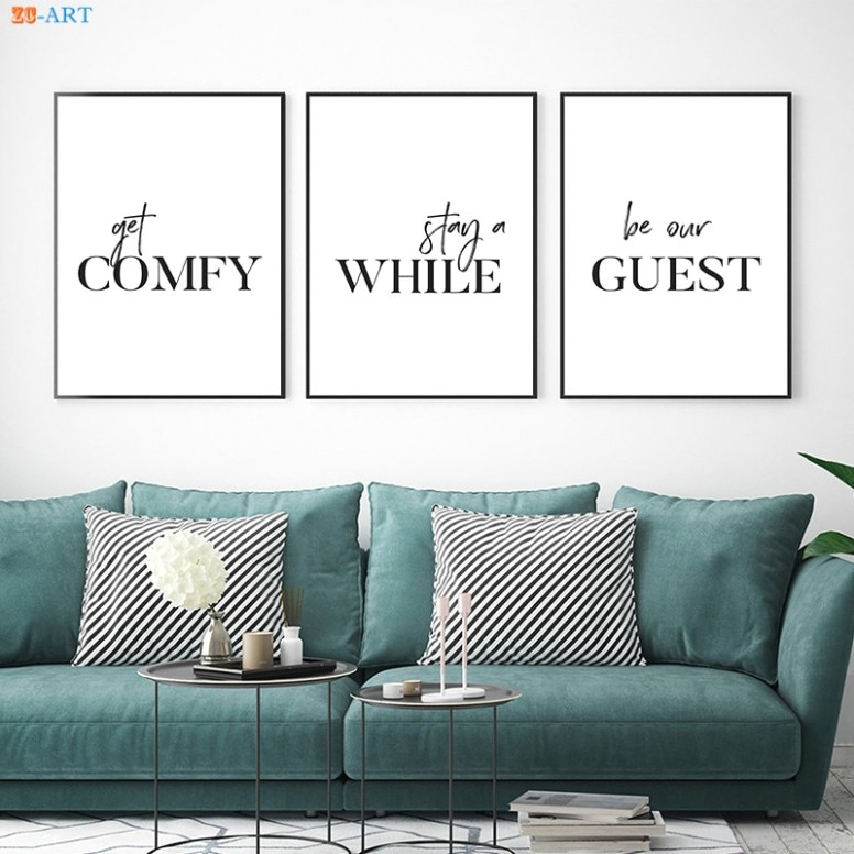 US $20.20 20% OFF Simple Quotes Canvas Painting Minimalist Wall Art Posters  and Prints Wall Pictures for Living Room Guest Room Decor Painting & ..   living room quotes