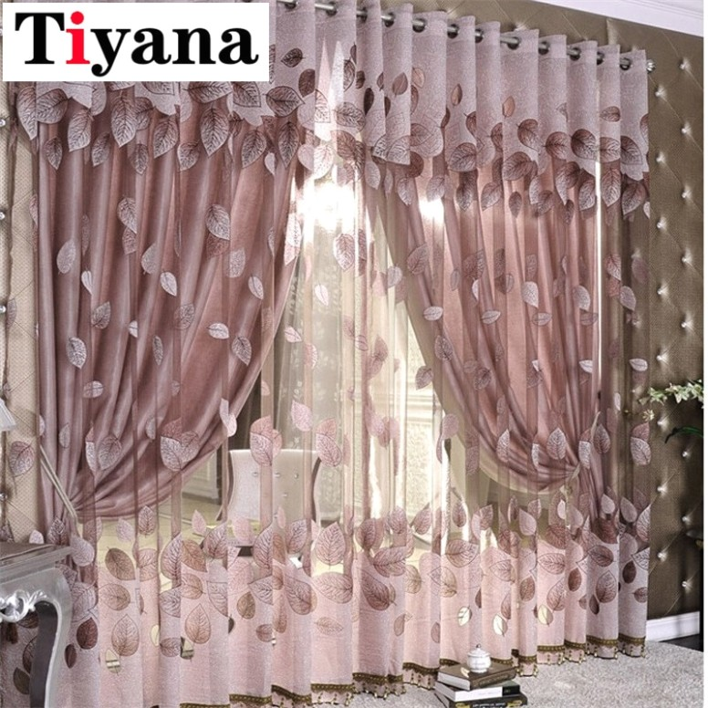US $20.520 20% OFF|Luxury Modern Leaves Designer Curtain Tulle Window Sheer  Curtain For Living Room Bedroom Kitchen Window Screening Panel .. | living room curtains