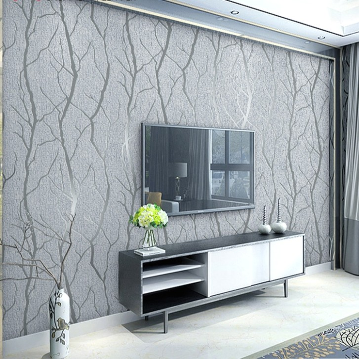 US $21.21 21% OFF|Grey 21d Embossed Crushed Velvet Wallpaper Luxury Bedroom  Living Room Wall Decor Wall Paper Flocked Brown|Wallpapers|Home Improvement  .. | living room wallpaper