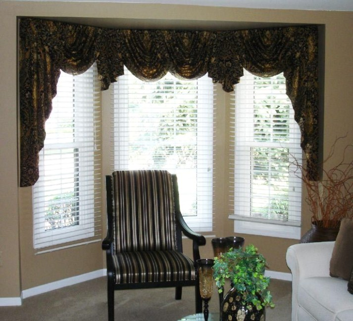 Valances for Bay Windows in Living Room | Curtains living room .. | living room valances