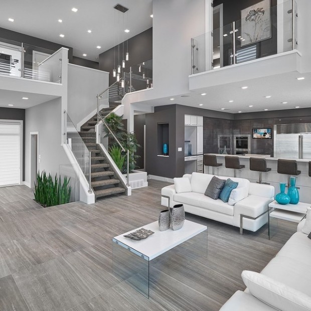 Vicky's Homes - Vittorio - Contemporary - Living Room - Edmonton ... | living room remodel ideas
