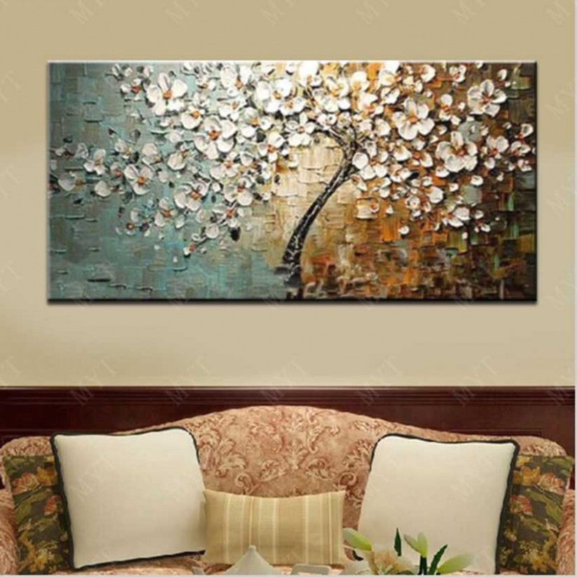 Wall Art Abstract Paintings Modern Oil Painting On Canvas Home Decoration  Living Room Pictures Handpainted No Framed HF16 - living room paintings | living room paintings