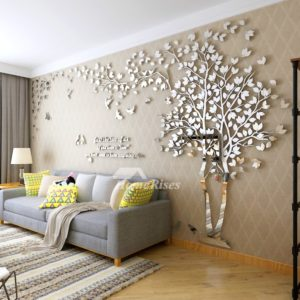 Wall Decals For Living Room Tree Acrylic Home Personalised Mirror   living room wall decor