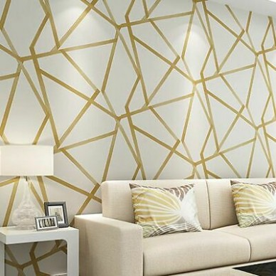 Wallpaper 21d Decors For Home Bedroom Living Room Wallpapers Geometric Wall  Cover | eBay - living room wallpaper | living room wallpaper