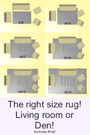 What Size Rug Fits Best in Your Living Room? - Area rug plac .. | living room rug size