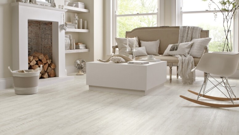 White Wood Floors and Other White Flooring Options & Ideas   11 ..   living room flooring