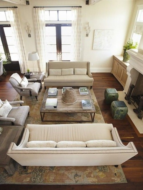 Why You Should Arrange Two Identical Sofas Opposite Of Each Other .. | living room 2 sofas