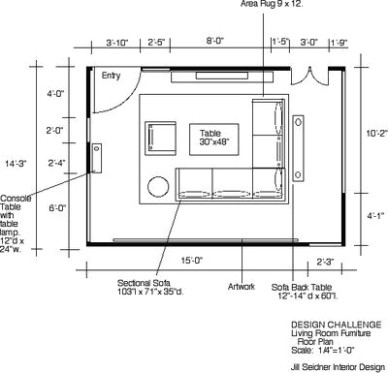 WINNER! Design Challenge: Space Plan for your Living Room | Living .. | living room dimensions