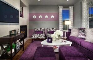 15 Catchy Living Room Designs with Purple Accent | Home Design Lover | purple living rooms ideas