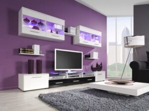 Black and Purple Living Room Combination Ideas | Purple living ... | purple living rooms ideas
