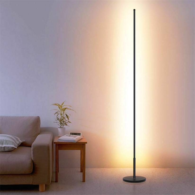 Details about LED Floor Lamps Standing Lamp Living Room Nordic Led Black White Aluminum Decor - living room lamps | living room lamps