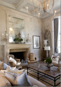 Get the look of a gorgeous French Country living room at kathykuo ... | french country living room