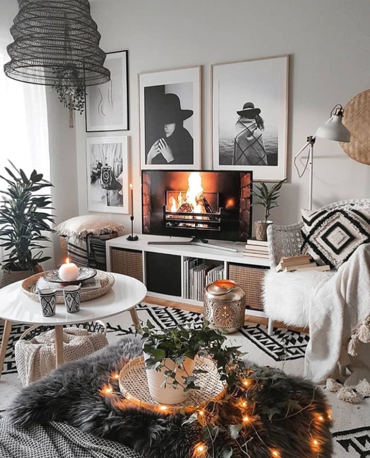 Image about aesthetic in home inspo🌼 by Ann-Sophie ☁️🥀 - Aesthetic living room | Aesthetic living room