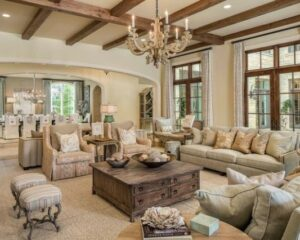The Beauty of Neutrals (With images) | Traditional family rooms ... | french country living room