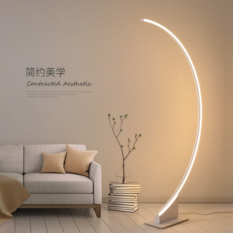 US $16.16 |Modern lamp floor led living room lamp stand Brief reading fish design floor lamp bedroom LED light for living room dropshipping|Floor .. | living room lamps