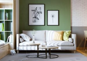 11 Gorgeous Green Living Rooms And Tips For Accessorizing Them – living room green walls
