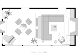 12 Furniture Layout Ideas for a Large Living Room, with Floor Plans ..