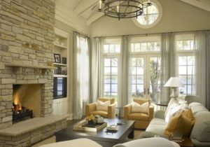 14 Charming Living Room Designs With Vaulted Ceiling | French ..