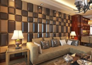 14D Leather Tiles for Living Room Wall Designs – Modern – Living ..