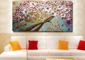 16 Modern Living Room Wall Decor Beautiful Flower Oil Painting Modern  Canvas Art Hand Painted Knife Painting No Framed From Watchsaler, $16.16 |  ..
