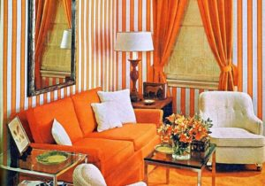20 20 Stylish Living Room Advertisement Orange And Stripes Groovy Baby – living room 1960