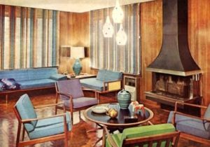 20s Decorating Style – living room 1960